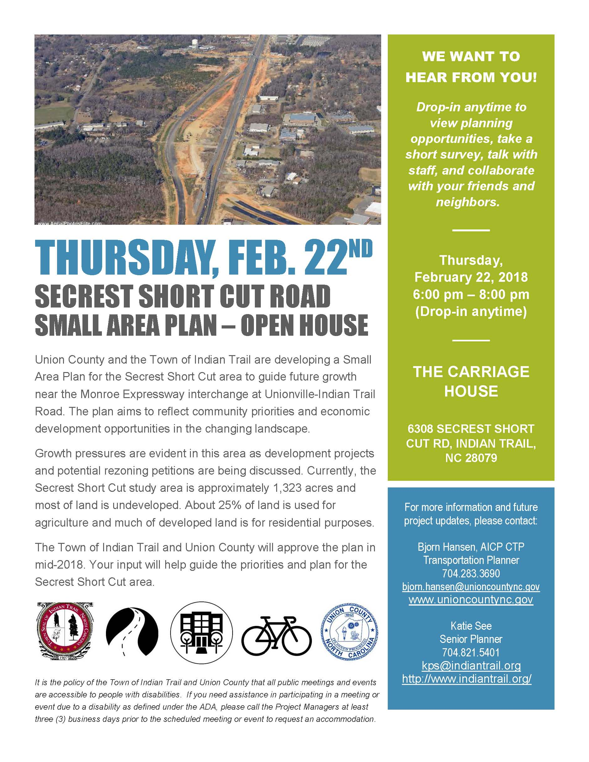 Secrest Shortcut SAP - Open House Flyer