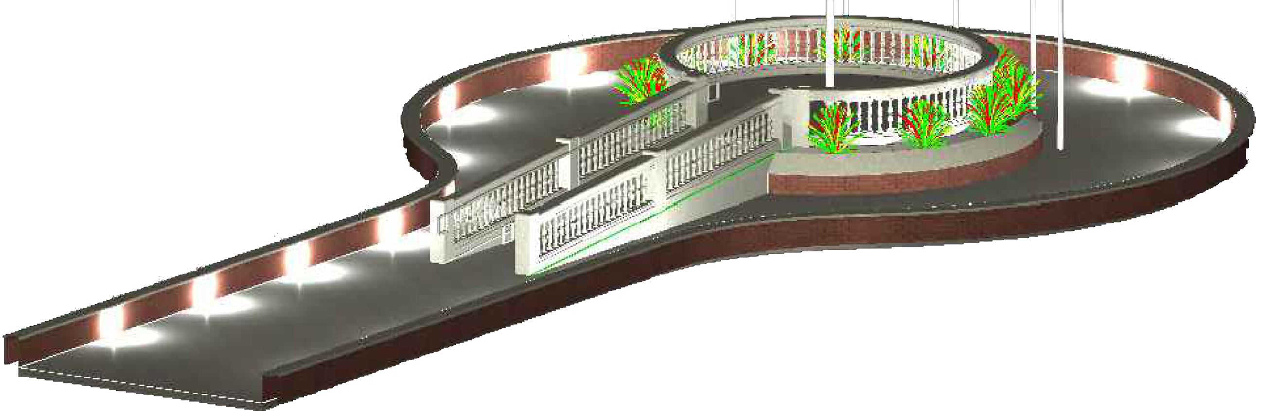 Veterans Memorial rendering