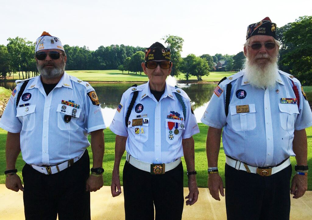 Members of the VFW Post 2423 Honor Guard helped kick off the event.