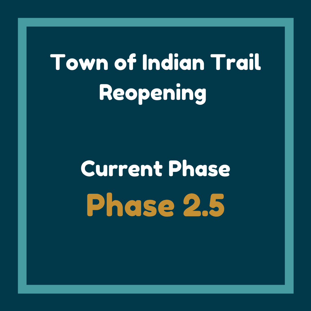 Town of Indian Trail Reopening Phase 2.5