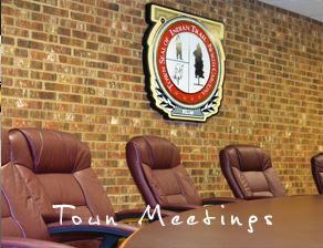 Indian Trail Town Council chamber