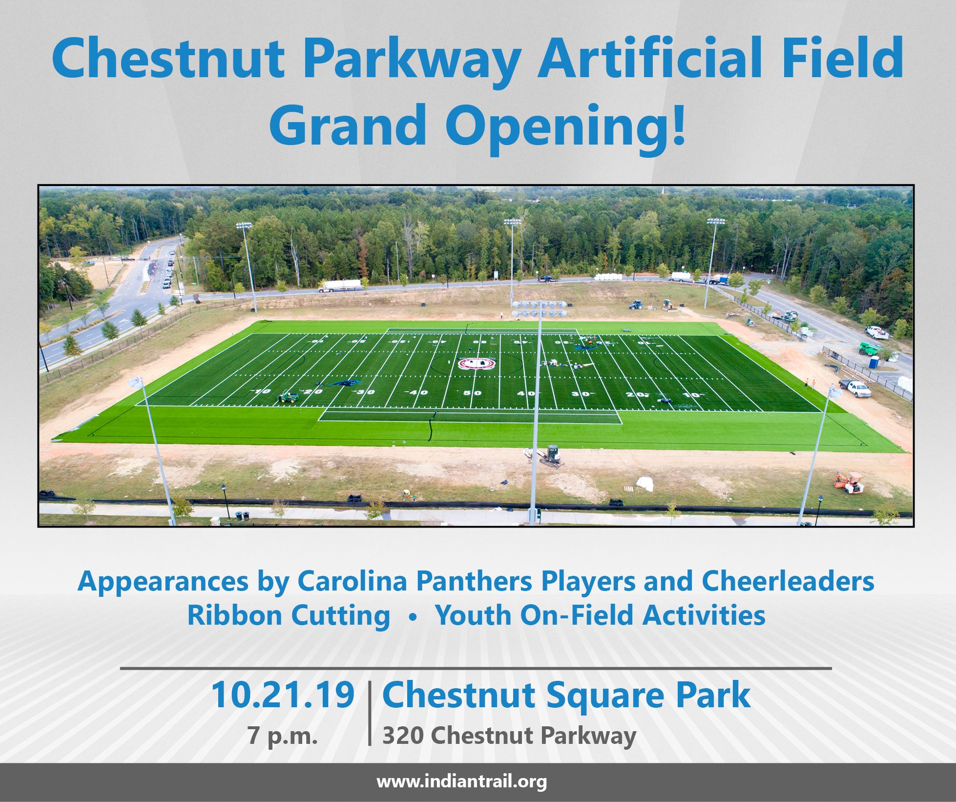 Artificial Turf Field Grand Opening Graphic