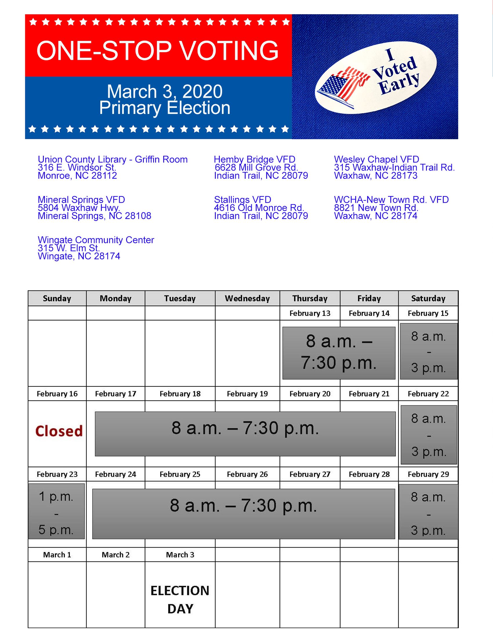 Early Voting Flyer