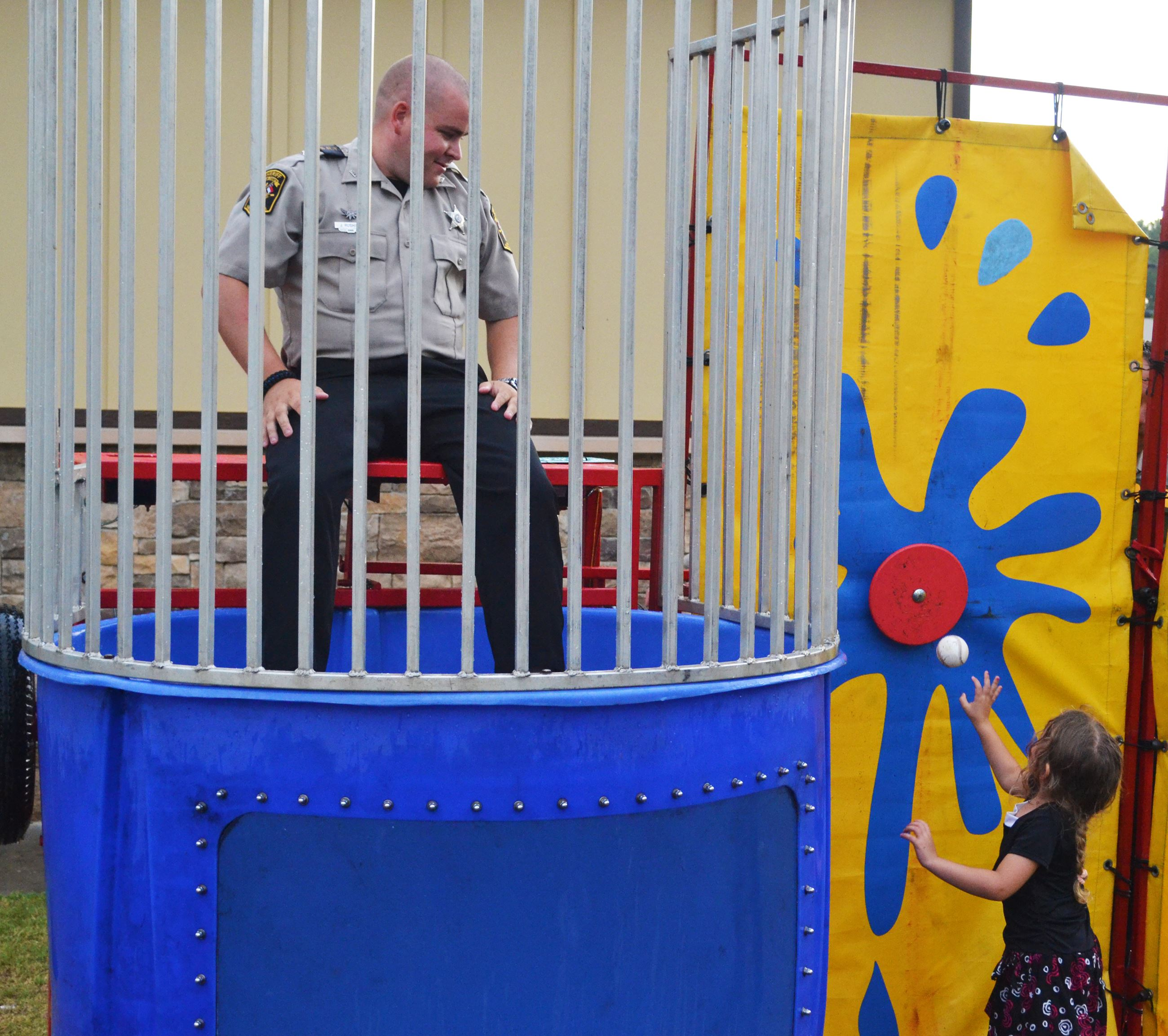 National Night Out dunk tank