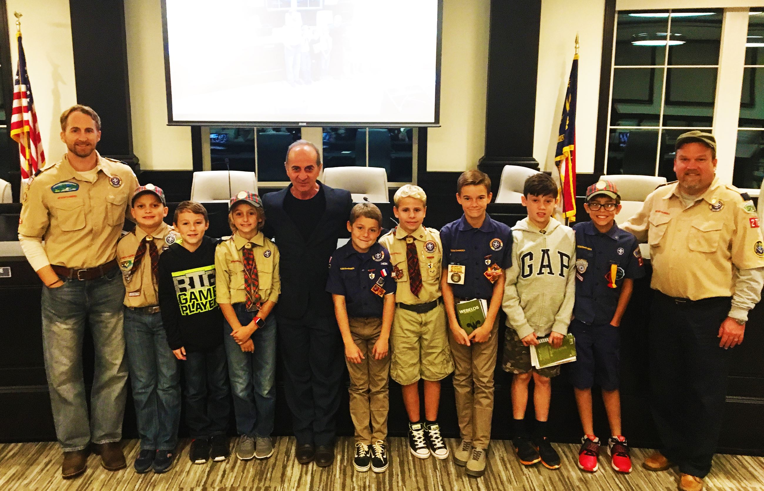 Boy Scouts at Town Council