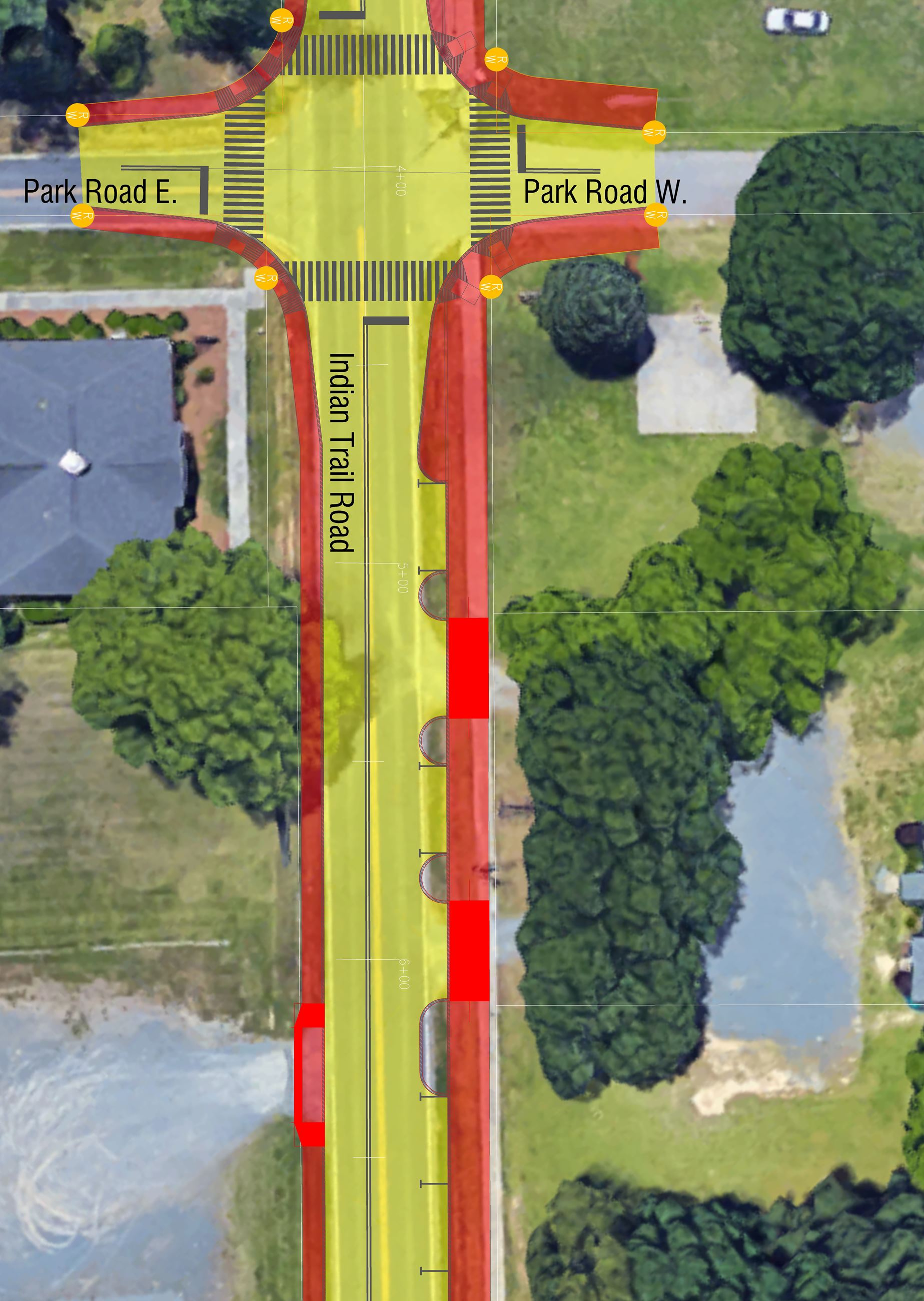 Indian Trail Complete Street rendering image