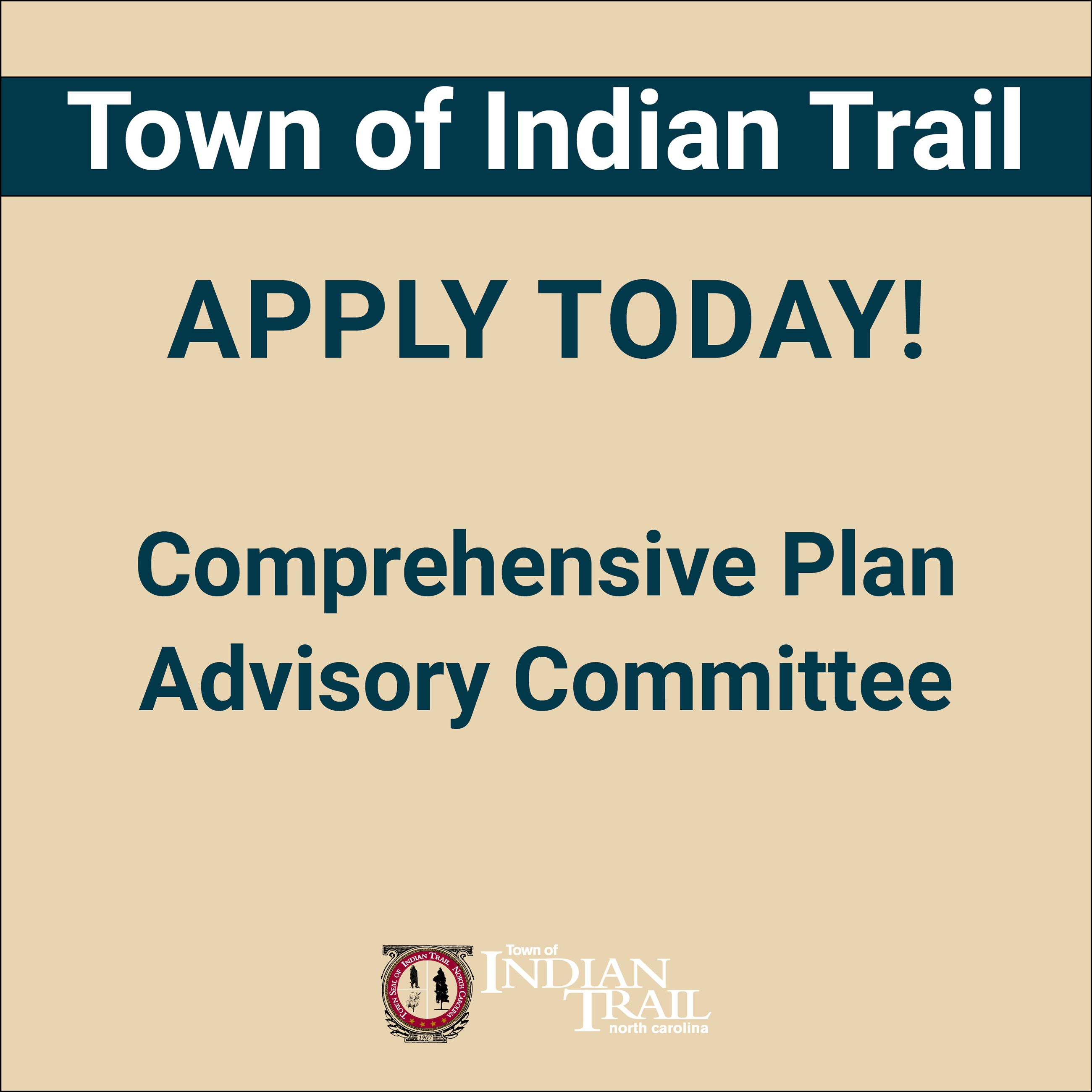 Apply Today! Comprehensive Plan Committee